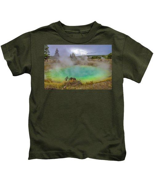 Opal Spring Yellowstone National Park Kids T-Shirt
