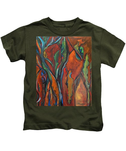 Orange Abstract Kids T-Shirt