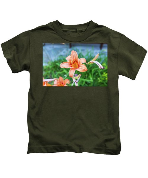 Orange Daylily Kids T-Shirt