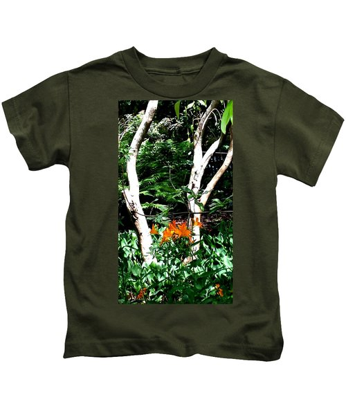 Orange Lilies Kids T-Shirt