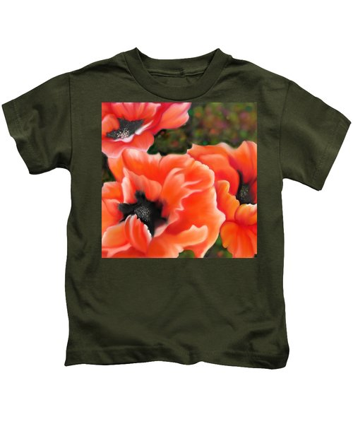 Orange Poppies Kids T-Shirt
