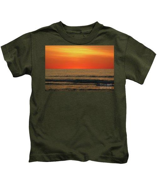 Orange Sunset On The Jersey Shore Kids T-Shirt