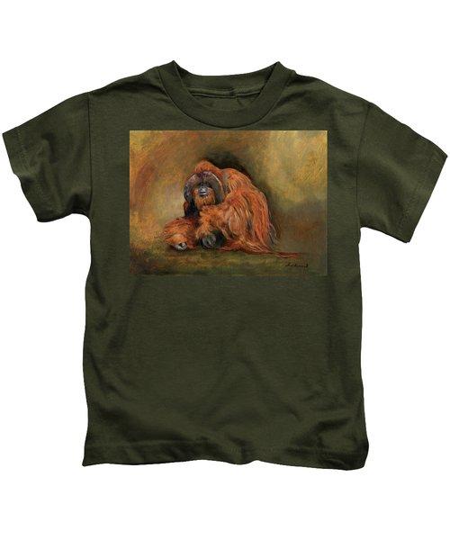 Orangutan Monkey Kids T-Shirt