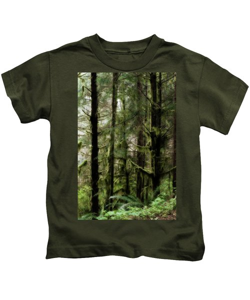 Oregon Old Growth Coastal Forest Kids T-Shirt