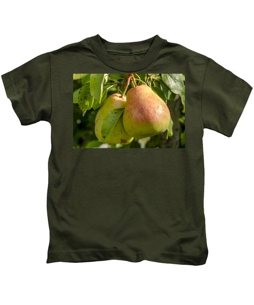 Organic Pears Hanging In Orchard Kids T-Shirt