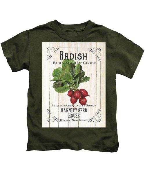 Organic Seed Packet 3 Kids T-Shirt by Debbie DeWitt