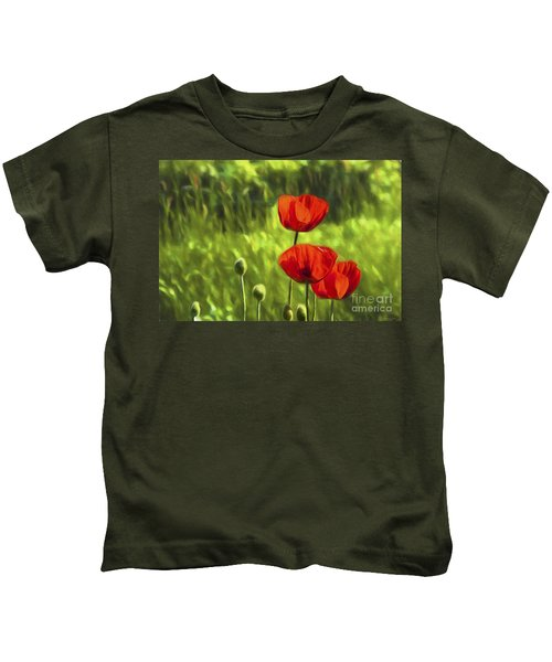 Oriental Poppies Kids T-Shirt