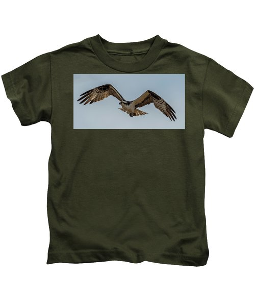 Osprey Flying Kids T-Shirt by Paul Freidlund