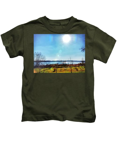 Kids T-Shirt featuring the photograph Otter Point Creek by Chris Montcalmo