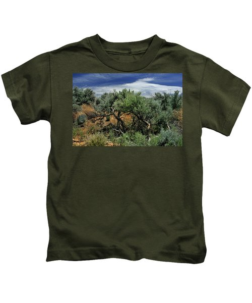 Out On The Mesa 3 Kids T-Shirt