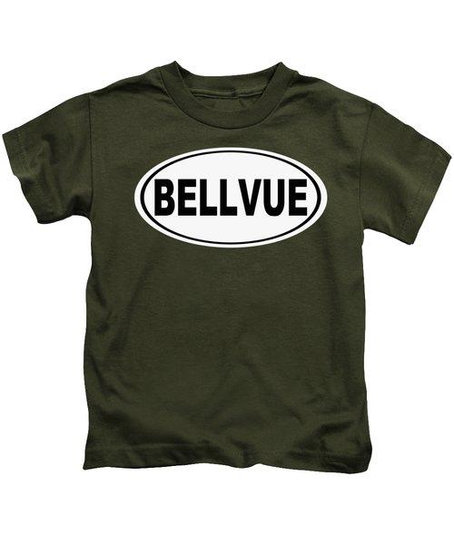 Oval Bellvue Colorado Home Pride Kids T-Shirt