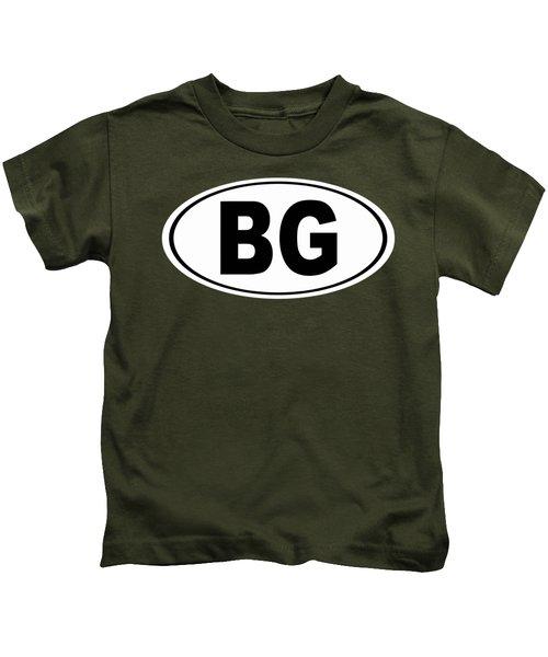 Oval Bg Bowling Green Kentucky Home Pride Kids T-Shirt