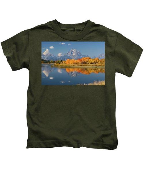 Oxbow Bend Reflection Kids T-Shirt