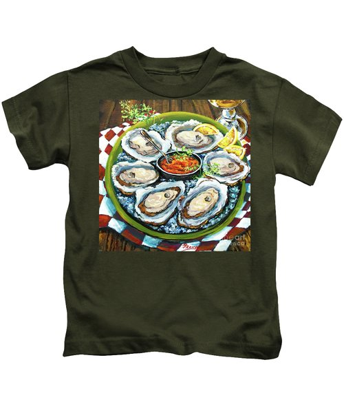 Oysters On The Half Shell Kids T-Shirt