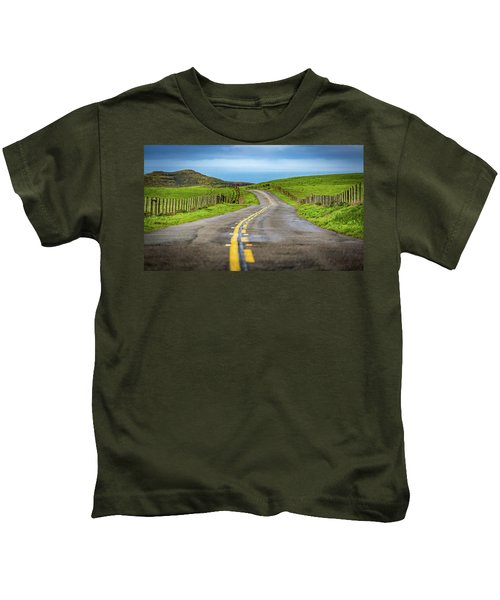 Pacific Coast Road To Tomales Bay Kids T-Shirt