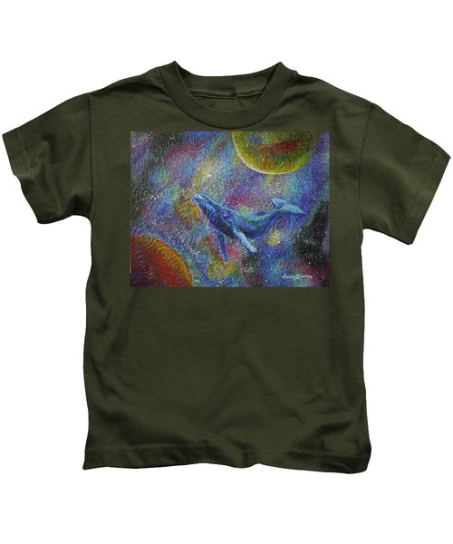 Pacific Whale In Space Kids T-Shirt
