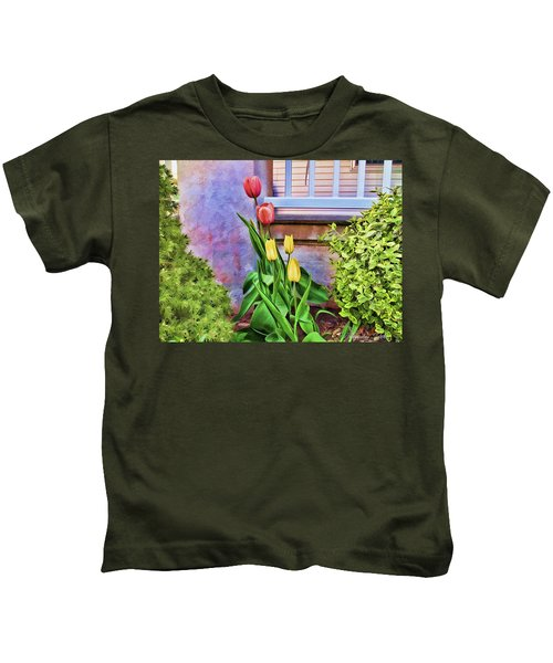 Painted Tulips Kids T-Shirt