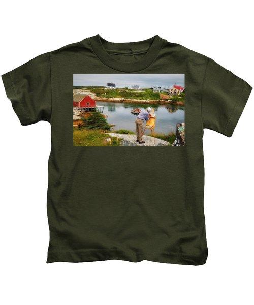 Painting Peggys Cove Kids T-Shirt