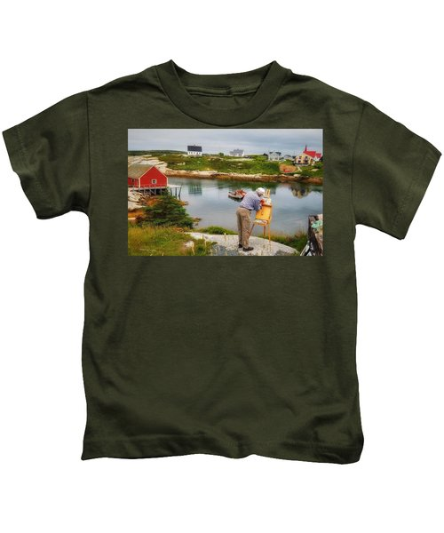 Painting Peggys Cove Kids T-Shirt