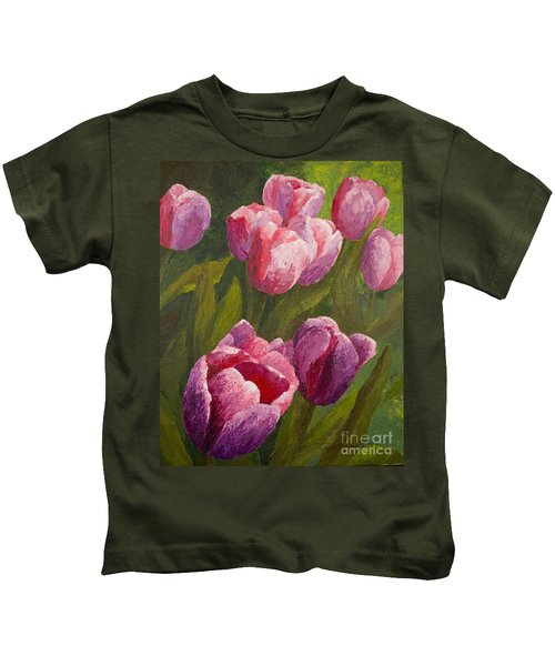 Palette Tulips Kids T-Shirt