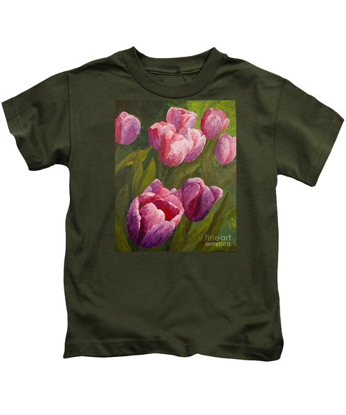 Palette Tulips Kids T-Shirt
