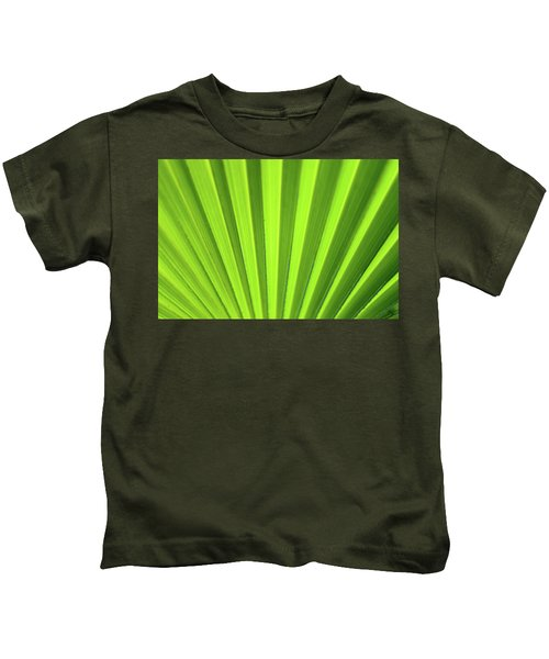 Palm Leaf Abstract Kids T-Shirt