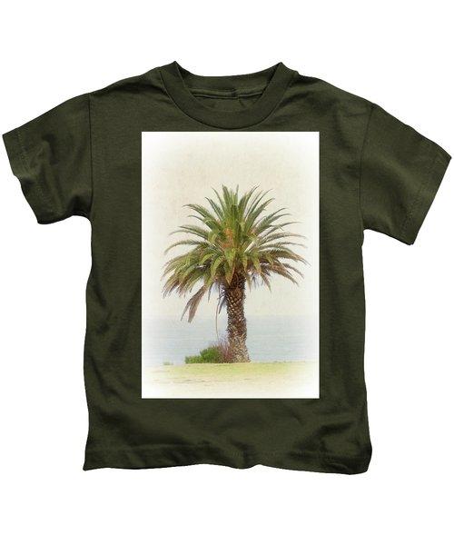 Palm Tree In Coastal California In A Retro Style Kids T-Shirt