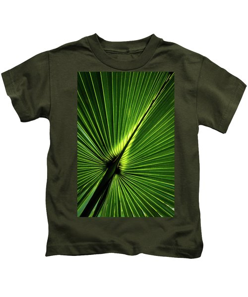 Palm Tree With Back-light Kids T-Shirt