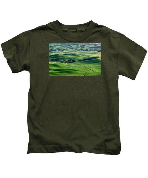 Palouse Wheat Farming Kids T-Shirt