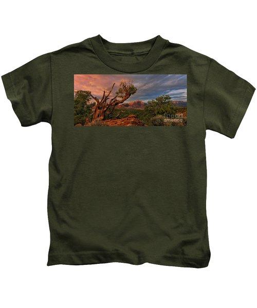 Panorama Storm Back Of Zion Near Hurricane Utah Kids T-Shirt