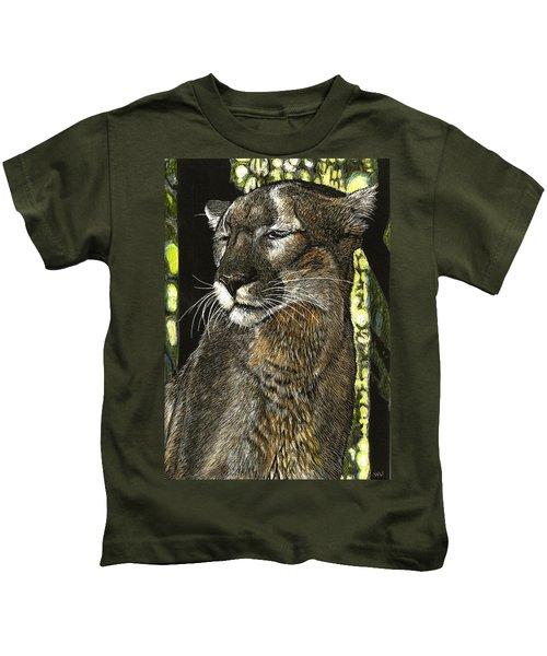 Panther Contemplates Kids T-Shirt