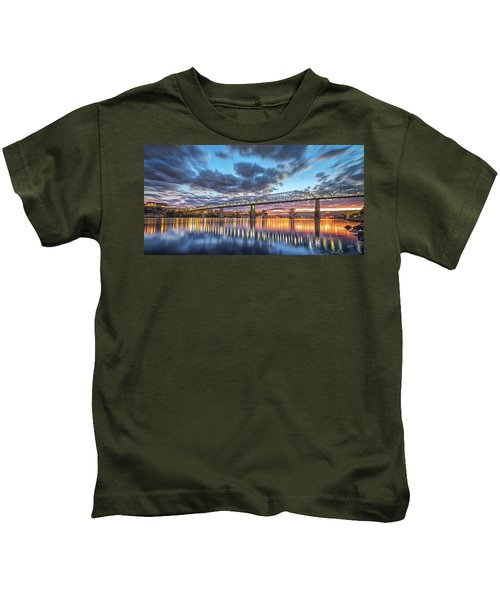 Passing Clouds Above Chattanooga Pano Kids T-Shirt