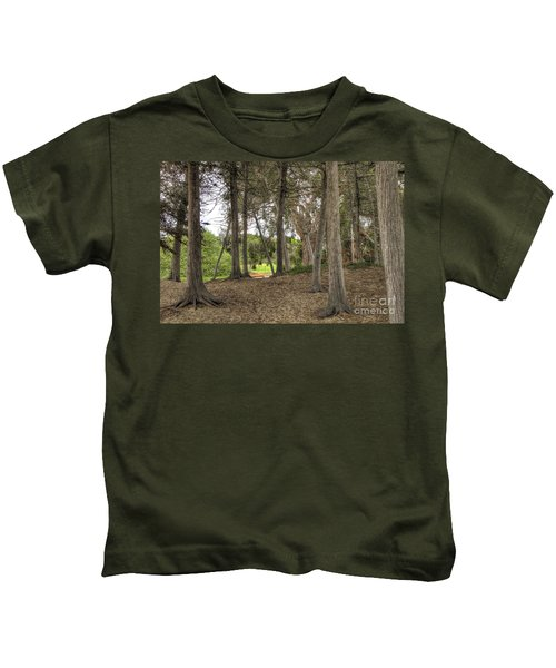 Past The Beach And Through The Trees Kids T-Shirt