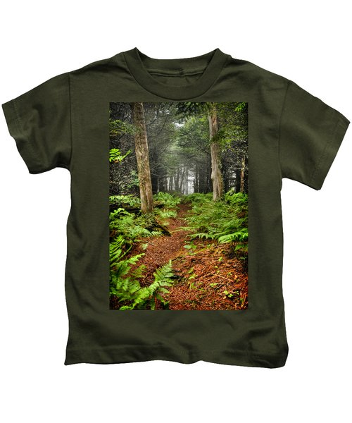 Path In The Ferns Kids T-Shirt