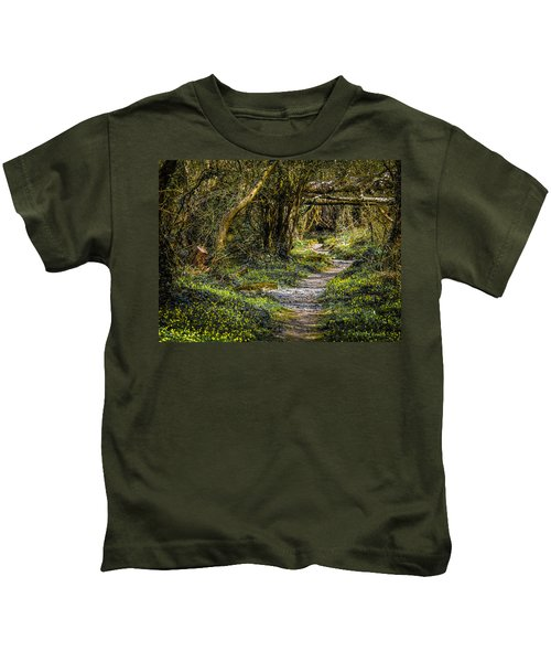 Kids T-Shirt featuring the photograph Path Through Yeats' Fairy Forest by James Truett