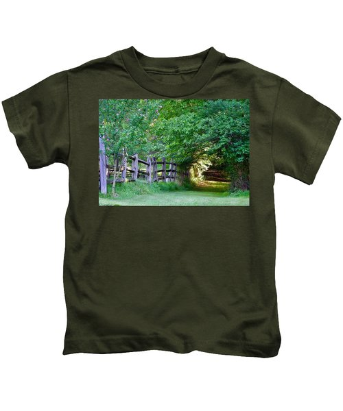 Pathway To A Sunny Summer Morning  Kids T-Shirt