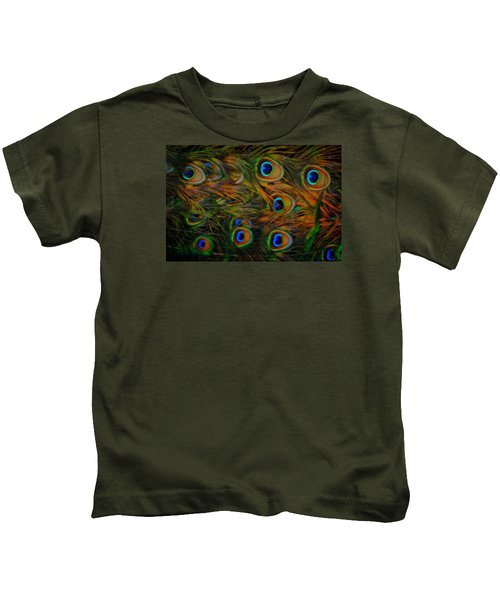 Peacock Feathers Kids T-Shirt