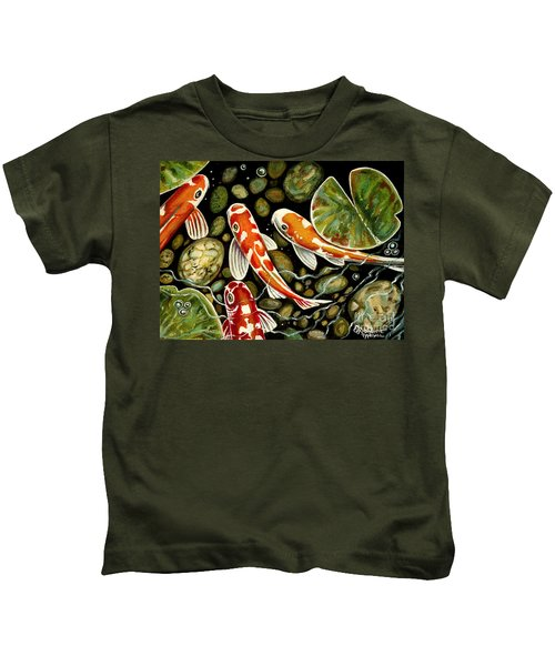 Pebbles And Koi Kids T-Shirt