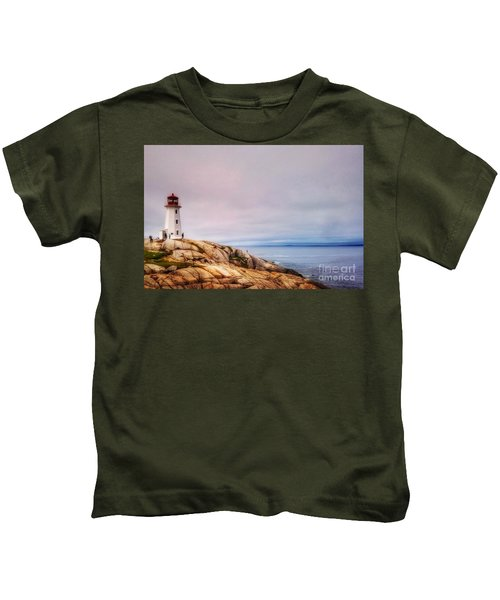 Peggys Point Lighthouse Kids T-Shirt