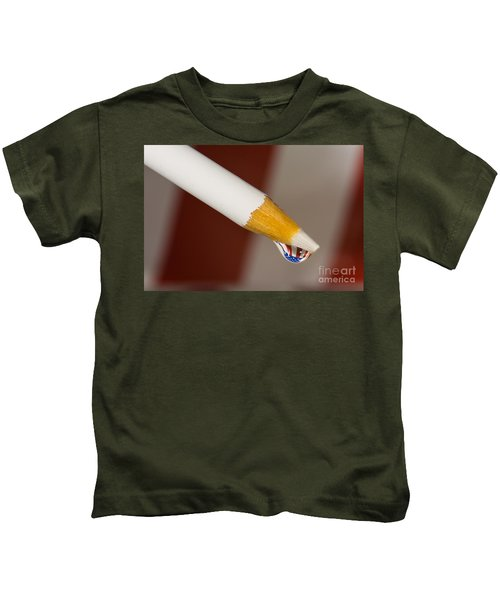 Pencil Flag Drop Kids T-Shirt