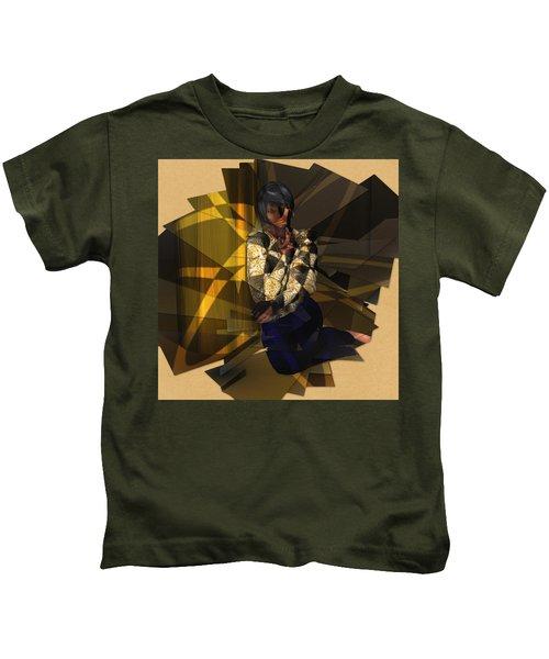 Pensive Woman Kids T-Shirt