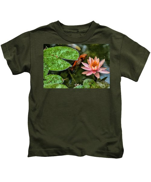 Perfect Beauty And Koi Companion Kids T-Shirt