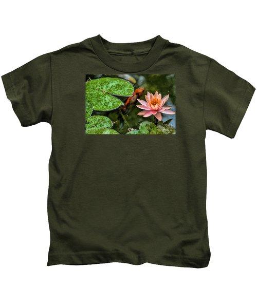 Perfect Beauty And Koi Companion Kids T-Shirt