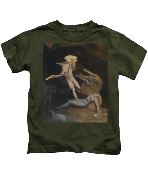 Perseus Slaying The Medusa Kids T-Shirt by Henry Fuseli