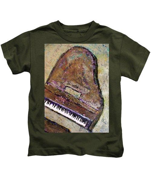 Piano In Bronze Kids T-Shirt