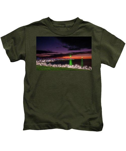 Pier And Lighthouse Kids T-Shirt