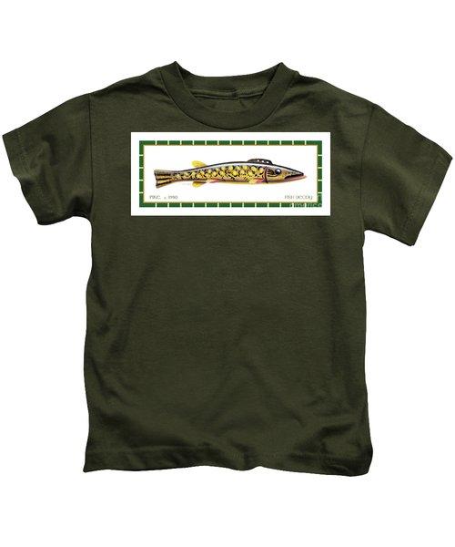 Pike Ice Fishing Decoy Kids T-Shirt