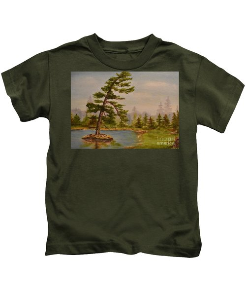 Pine Bent Over Time Kids T-Shirt