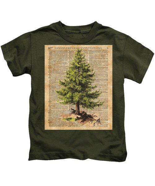 Pine Tree,cedar Tree,forest,nature Dictionary Art,christmas Tree Kids T-Shirt