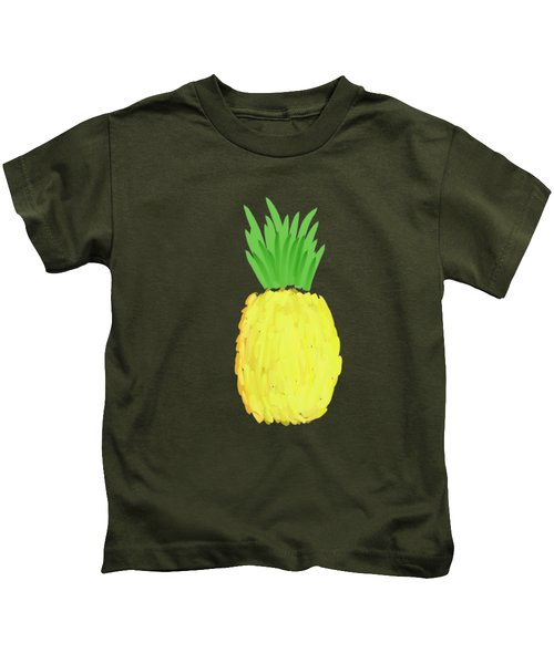 Pineapple Kids T-Shirt by Priscilla Wolfe